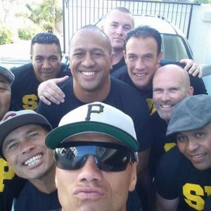 Winston Su'a (centre) with some of the BaaBaaZ crew