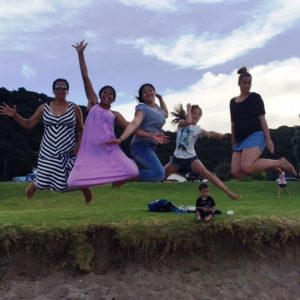 Some of the wider Latu crew, with Cat on the right. Photo credit: Auckland Sports Photography