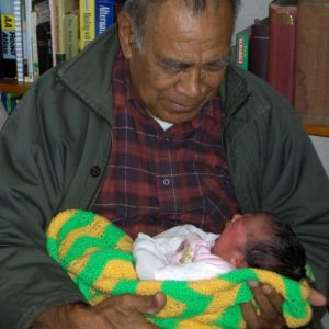 Tusiata's dad and daughter