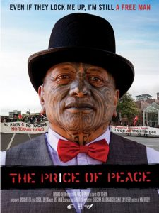 "Poster for the documentary ""The Price of Peace""."