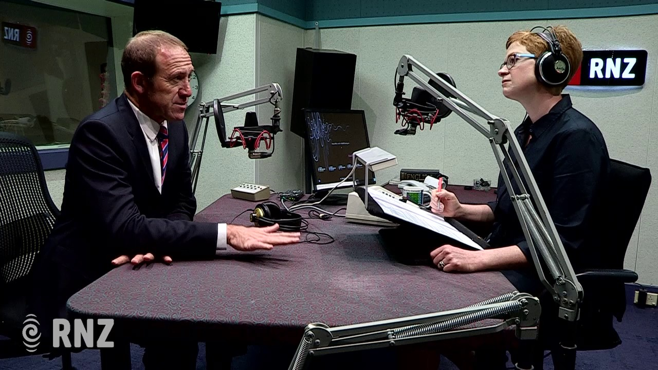 Andrew Little and Susie Fergunson