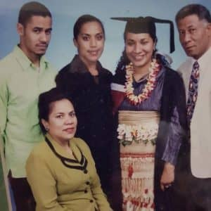 Emeline (second from right) with mum Edith, dad Loloma, and siblings Percival Vete & Rachel Afeaki