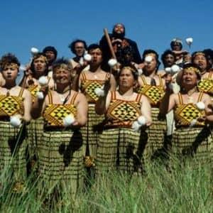 Dalvanius with the Patea Māori Club