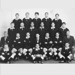 Jimmy and Manu (second row, third from right) at the 1967 Prince of Wales Cup challenge in Wellington.