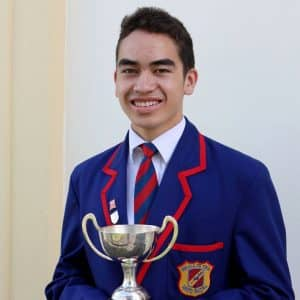 Rongonui-Atea Kahurangi who won the cup for scripture reading in Māori.