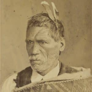 Rewi Maniapoto was regarded as a fanatical warmonger by many in the early 1860s, but this is not consistent with other evidence that the Ngāti Maniapoto rangatira sought peace. However, thanks in large part to John Gorst's book The Maori King, the view has endured in some quarters. (Alexander Turnbull Library, PA2-1359, photograph by Elizabeth Pulman)