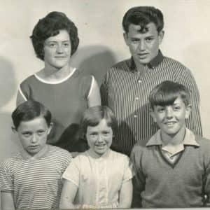 Siblings (front, from left) Rob, Reta & John, and (back) Keita & Tuhaka.