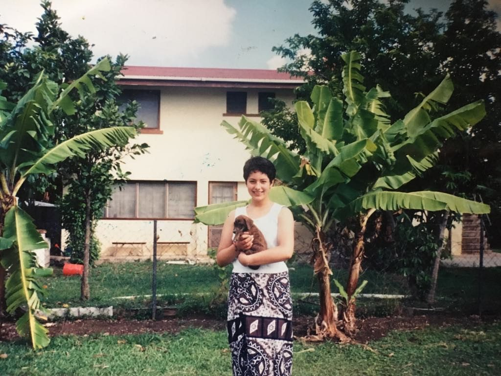 Simone in Tonga at 17