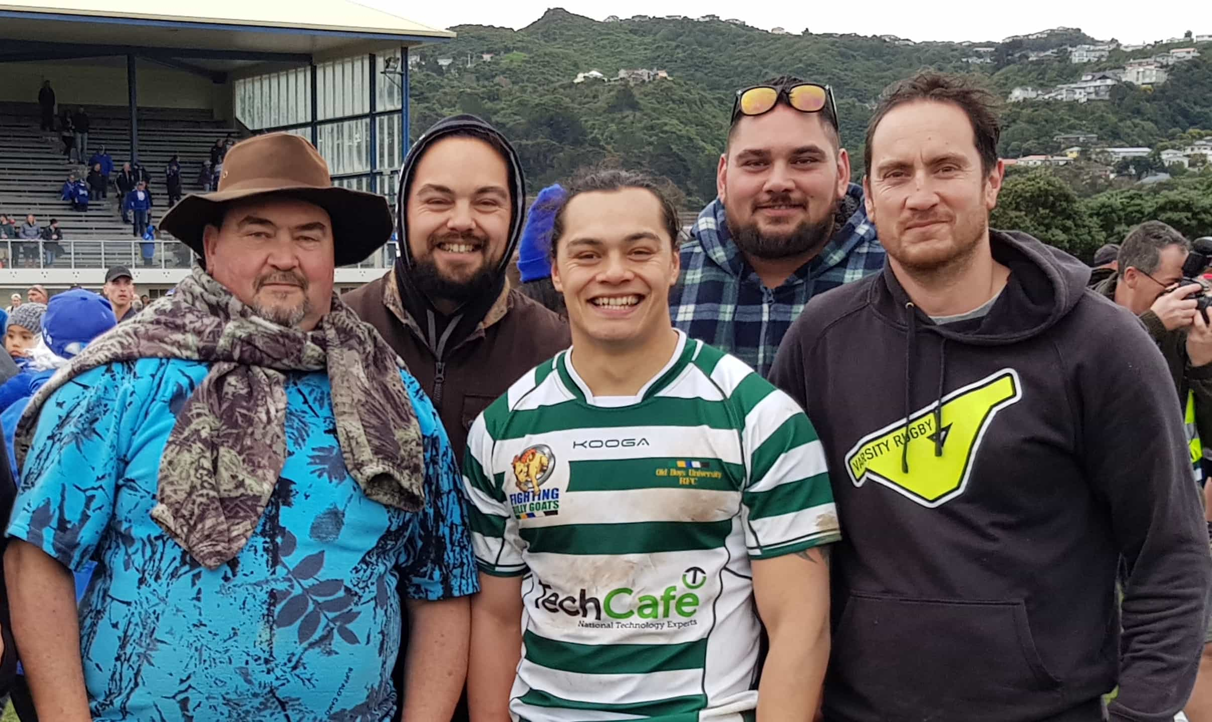 Rawiri and his sons (from left) Kereama, Te Wehi, Manawa and Shannon. He also has four daughters.
