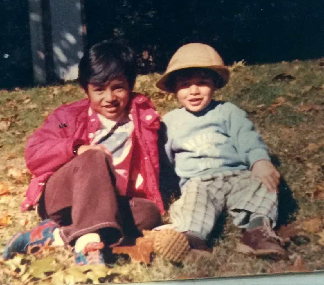 Tama and Kahu in Washington, around 1977.