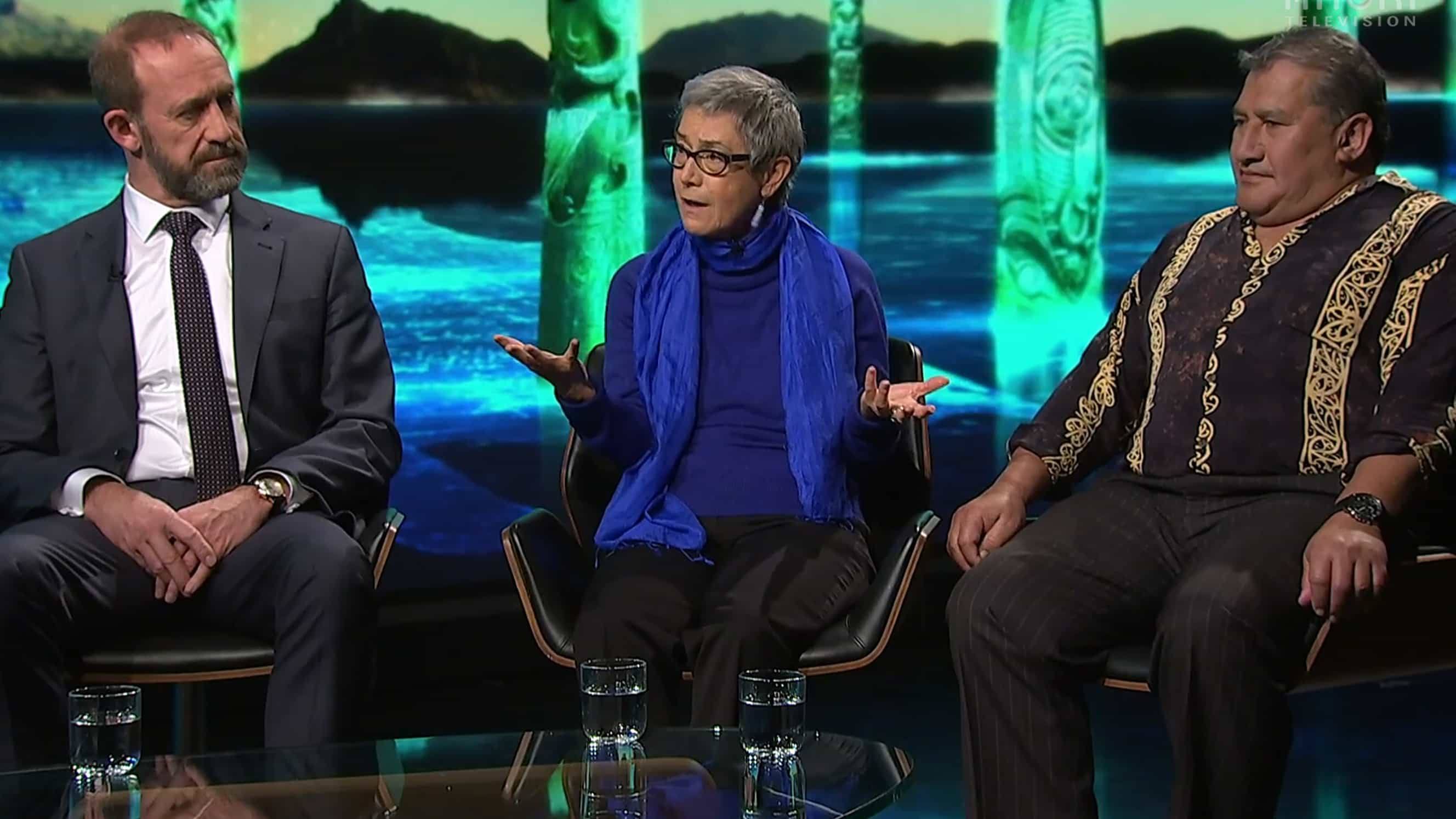 Andrew Little, Jane Kelsey, and Ngahiwi Tomoana, on Te Ao with Moana.