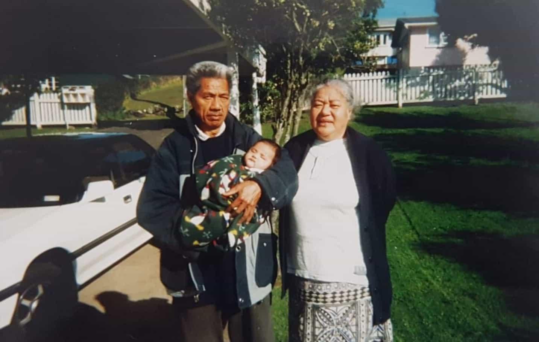 Moera Tuilaepa-Taylor, parents with first grandchild, in Porirua