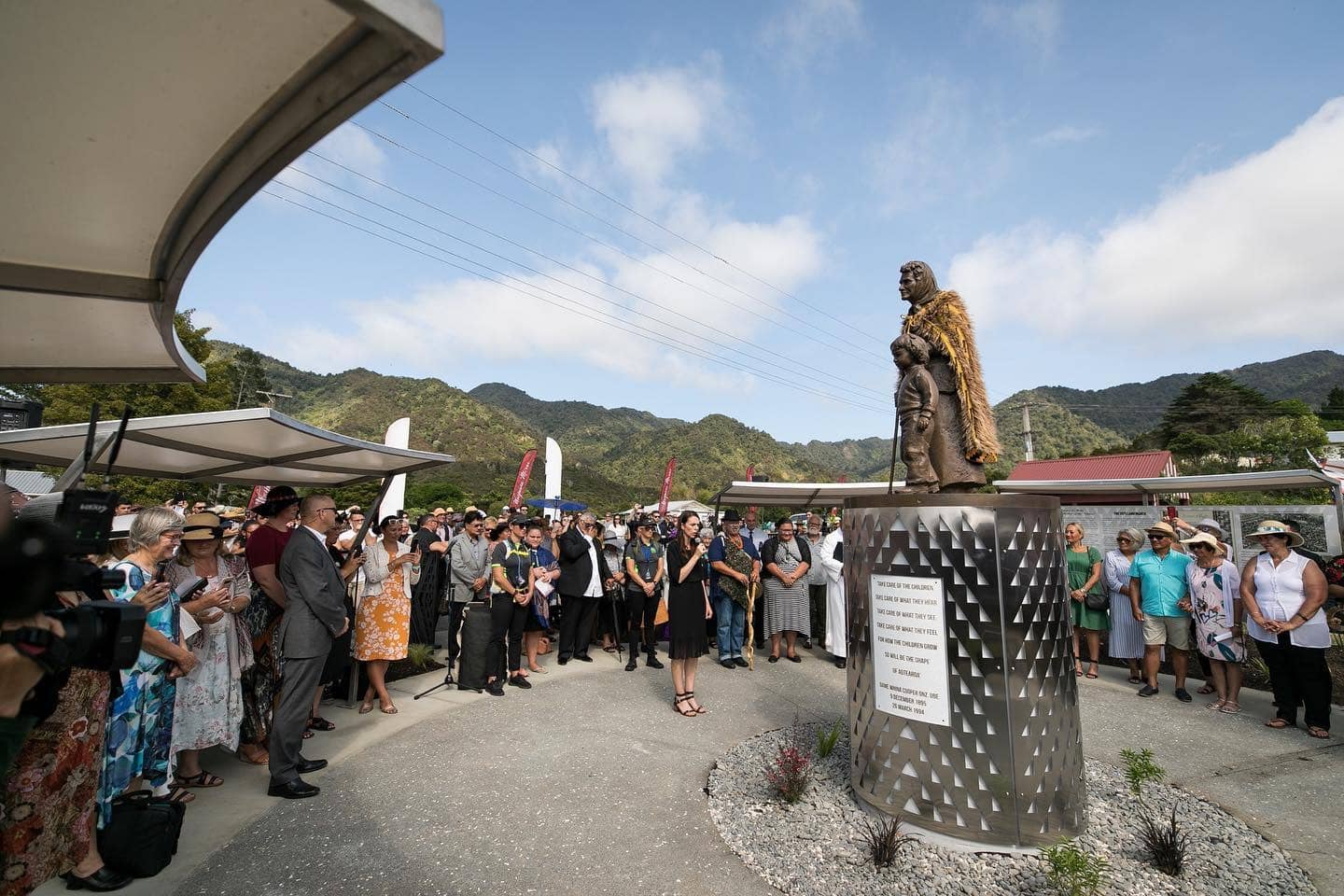 Unveiling Whina Cooper statue at Panguru 3rd February 2020 by Rawhitiroa Photography