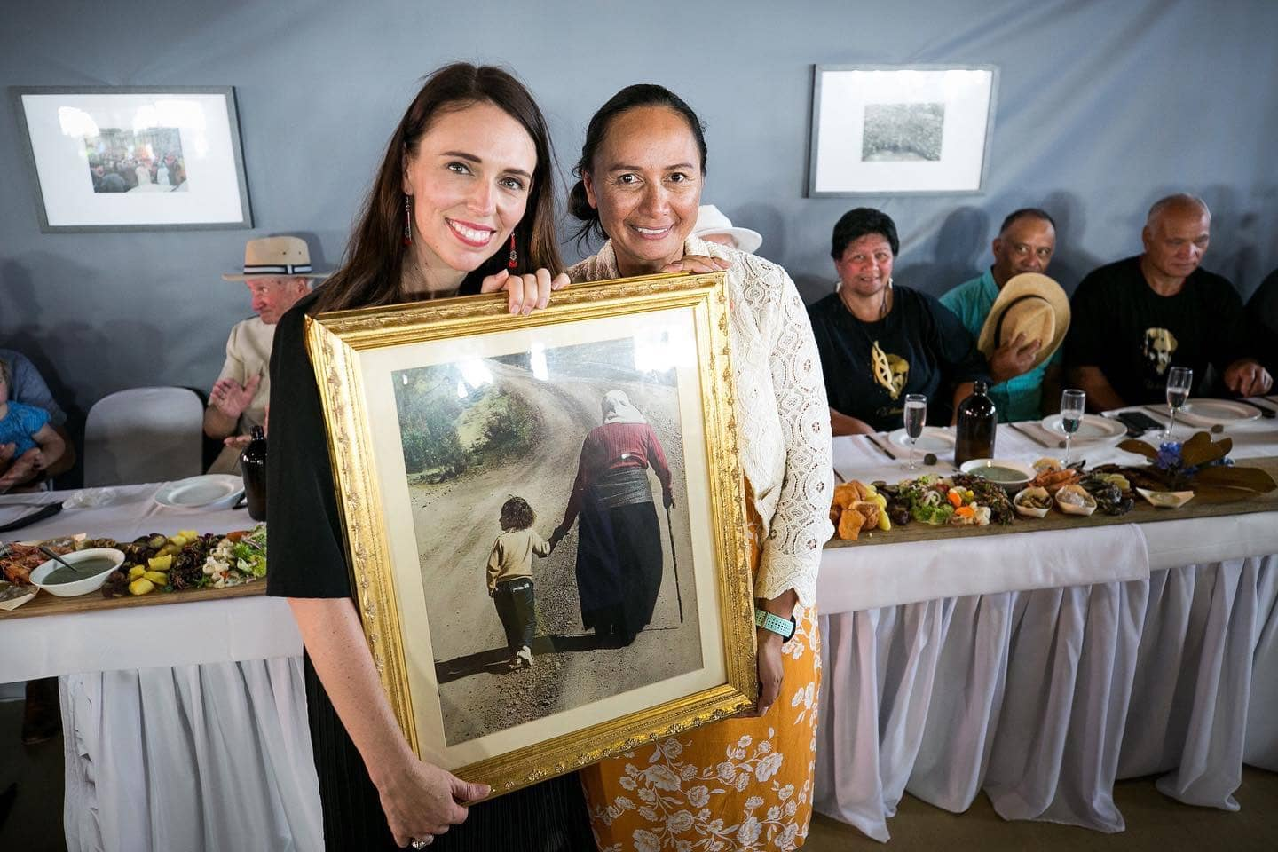 PM Jacinda Adern with Irene Matila