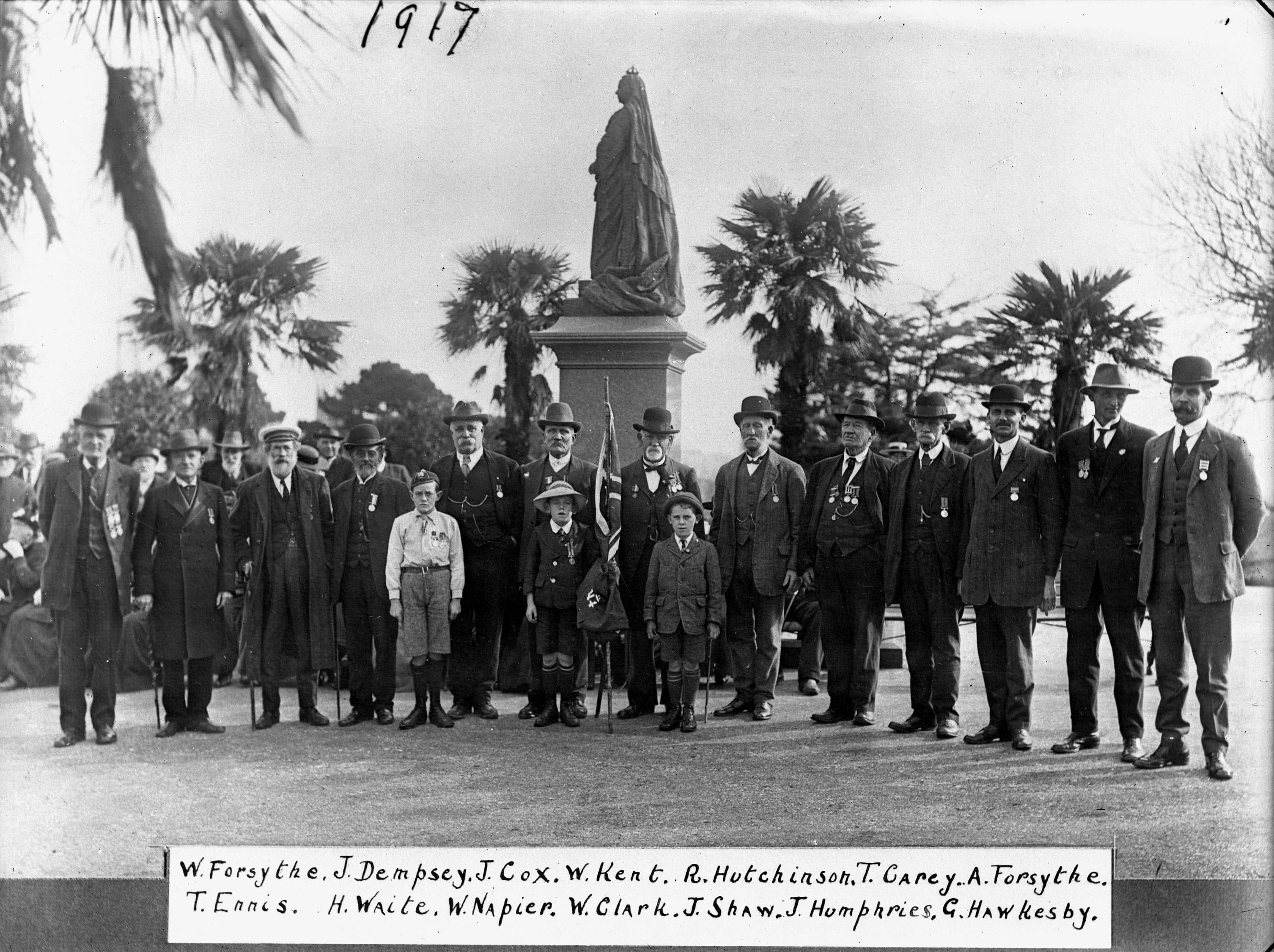 Veterans of the 18th Royal Irish Regiment, Albert Park Frank J.Denton