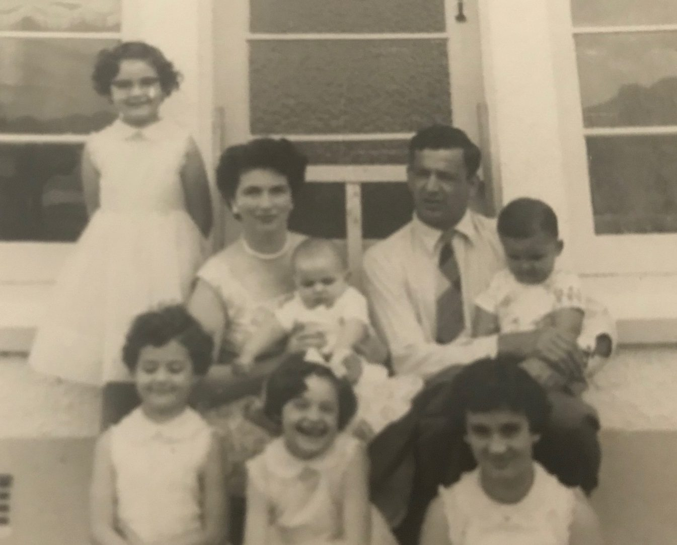 Papaarangi Reid (bottom left) with parents and siblings.