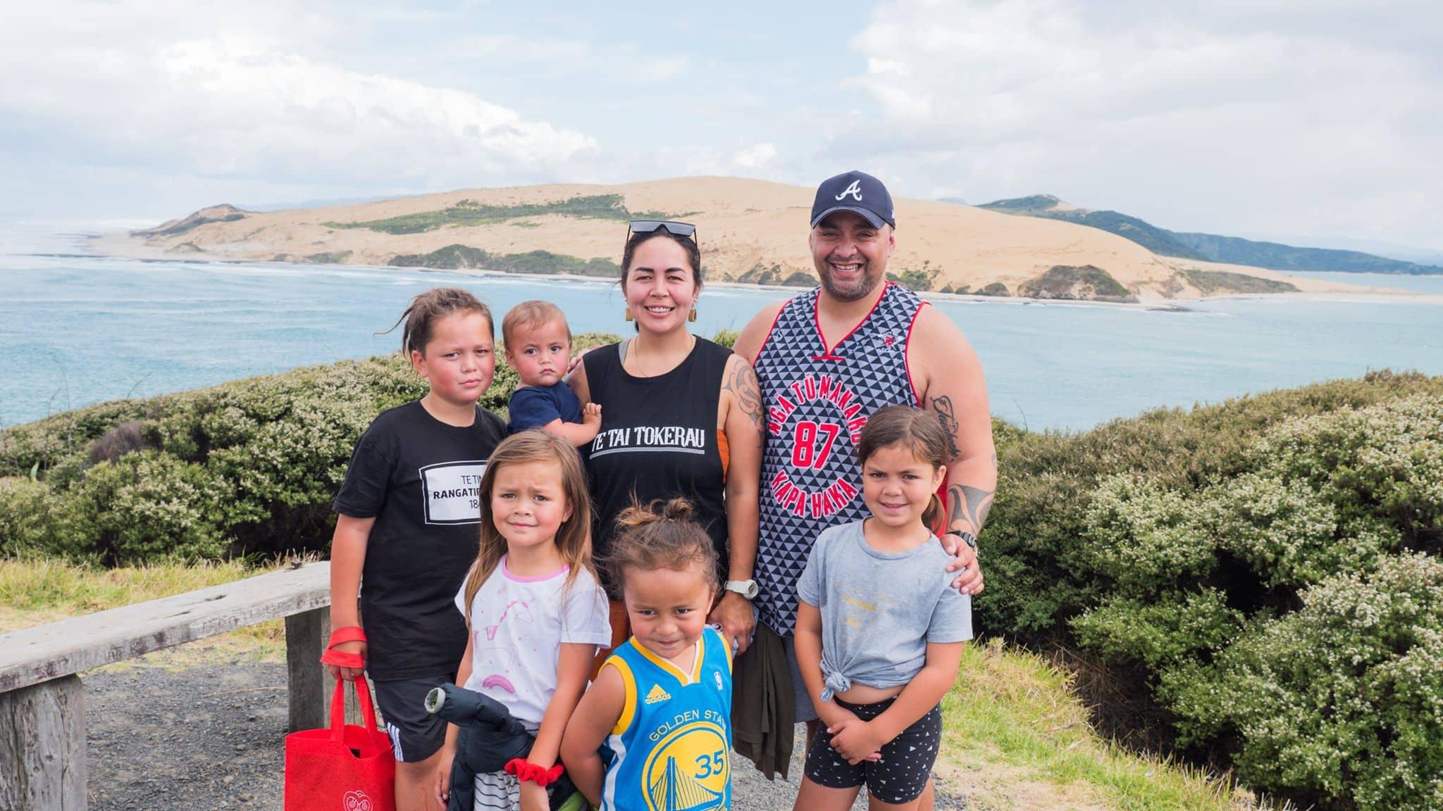 Back Row – Tuhoronuku, Te Aumārire, Te Wairua, Eli. Front row – Ohomairangi, Te Kohuroa, Taiahoaho