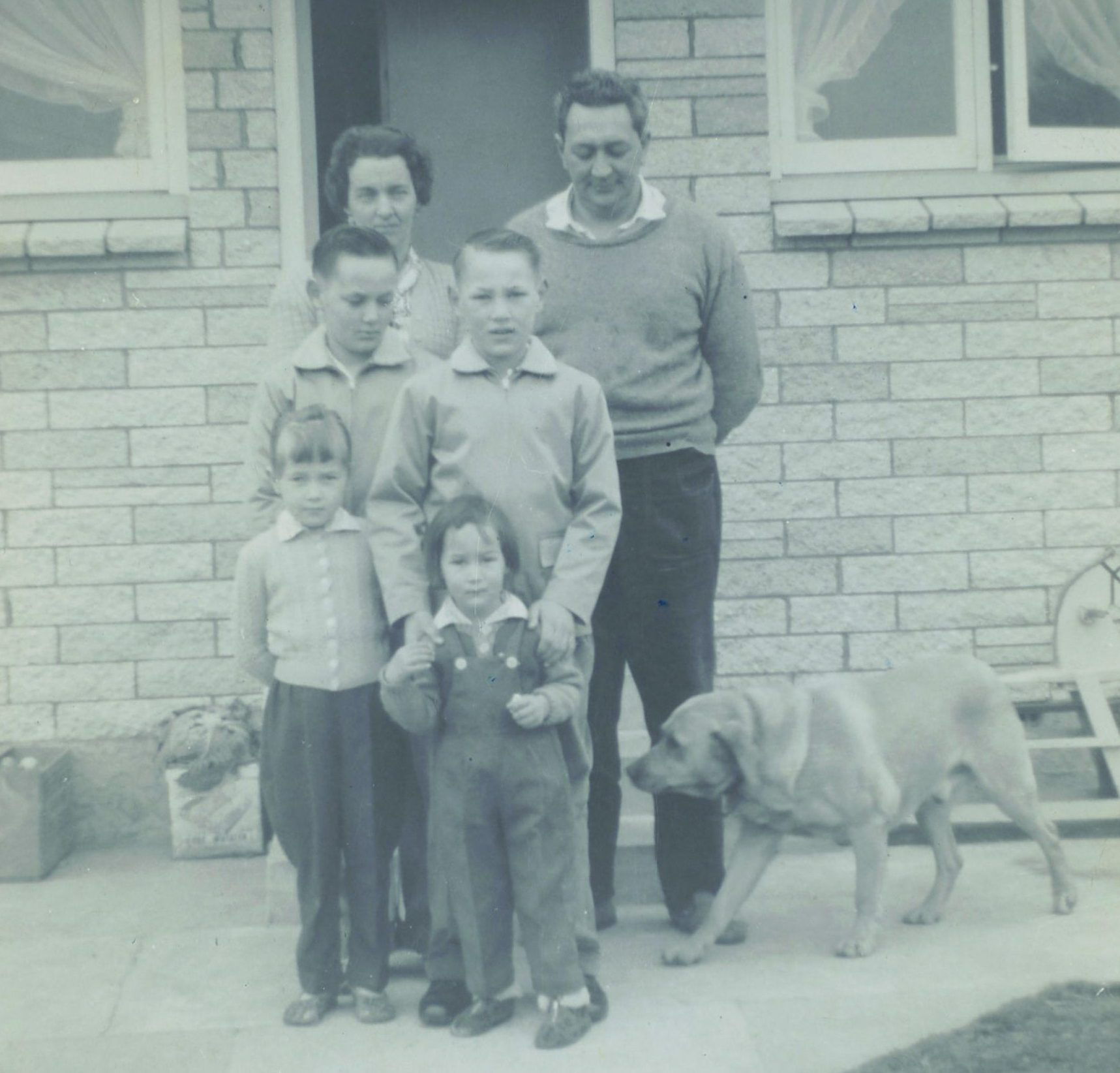ABOVE Mark with his family at Belfast, Christchurch, in the early 1960s. From back left: Mark's mother, Nyra May, and his father, George; middle: Mark and his brother, Wayne; front: his sisters, Rana and Keri.
