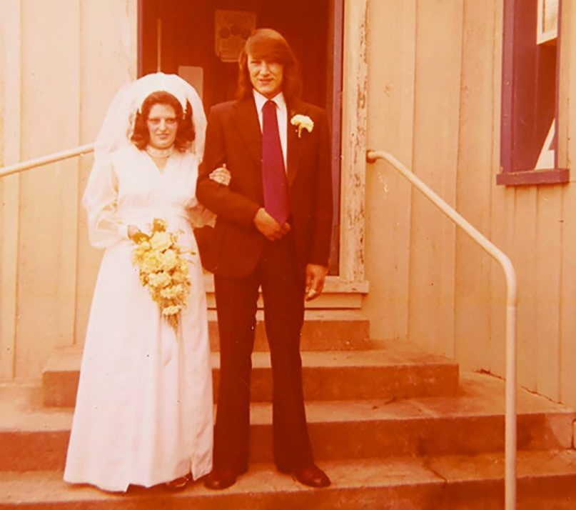 Mark and Maria Solomon on their wedding day in 1974.